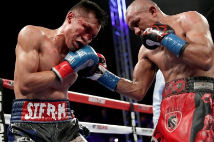 CARSON, CA - JUNE 04: Orlando Salido (R) throws a right at Francisco Vargas during their WBC super featherweight championship bout at StubHub Center on June 4, 2016 in Carson, California. (Photo by Sean M. Haffey/Getty Images)